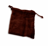 Large Burgundy Velvet Cremains Bag For Ashes