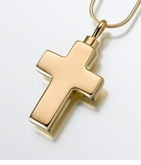 Large Gold Vermeil Cross Cremation Jewelry