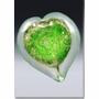 Large Green Boundless Heart Cremains Encased in Glass Keepsake Cremation Urn