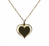 Large Heart 14kt Gold Cremation Jewelry Necklace