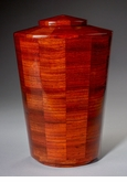 Large Joy Padauk Wood Cremation Urn