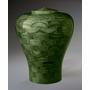 Large Lily Green Wood Cremation Urn