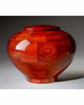 Large Mercy Padauk Wood Cremation Urn