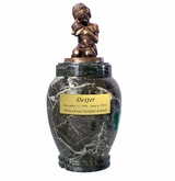 Large My Best Dog Ever Marble Pet Cremation Urn