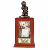 Large My Best Dog Ever Photo Cherry Wood Pet Cremation Urn