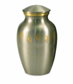 Large Paw Prints Classic Pewter Pet Cremation Urn - Engravable