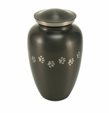 Large Paw Prints Classic Slate Pet Cremation Urn - Engravable