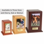 Small Photo Tower Walnut Wood Pet Cremation Urn