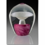 Large Pink Enduring Fountain Cremains Encased in Glass Keepsake Cremation Urn