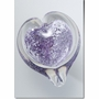 Large Purple Boundless Heart Cremains Encased in Glass Keepsake Cremation Urn