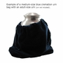 Small Rainbow Bridge Black Velvet Pet Cremation Urn Bag