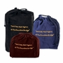 Medium Rainbow Bridge Black Velvet Pet Cremation Urn Bag