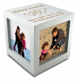 Large Rotating Photo Cube Cremation Urn - 3 Color Choices