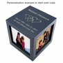 Medium Rotating Photo Cube Cremation Urn - 3 Color Choices