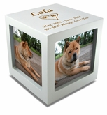 Large Rotating Photo Cube Pet Cremation Urn - 3 Color Choices