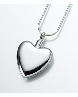 Large Sterling Silver Heart Cremation Jewelry