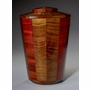 Large Trinity Black Walnut and Padauk Wood Cremation Urn
