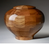 Large Wisdom Black Walnut Wood Cremation Urn