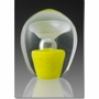 Large Yellow Enduring Fountain Cremains Encased in Glass Keepsake Cremation Urn