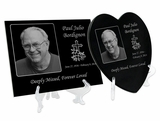 Laser-Engraved Plaque Black Granite Memorials
