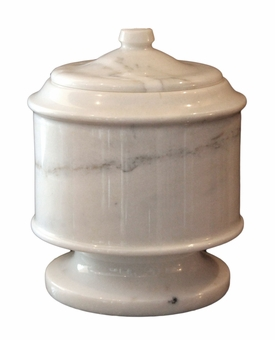 Lasting Tribute Antique White Marble Pet Cremation Urn