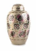 Lattice Floral Brass Cremation Urn