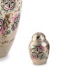 Lattice Floral Brass Keepsake Cremation Urn