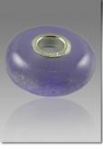 Lavender Perfect Memory Bead Cremains Encased in Glass Cremation Jewelry