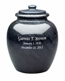 Legacy Black Marble Engravable Cremation Urn