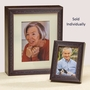 Legacy Keepsake Cherry Wood Photo Frame and Cremation Urn Combination