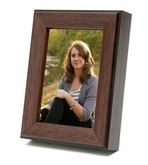 Legacy Keepsake Walnut Wood Photo Frame and Cremation Urn Combination