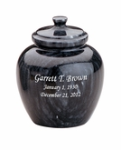Legacy Memory Black Marble Engravable Cremation Urn