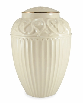 Lenox Fine Porcelain Cremation Urn with 24k Gold Trim