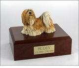 Lhasa Apso Dog Figurine Pet Cremation Urn - 340
