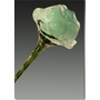 Light Aqua Eternal Bloom Cremains Encased in Glass Cremation Long Stem Rose
