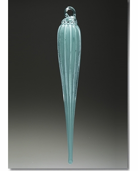 Light Aqua Everlasting Icicle Cremains Encased in Glass Cremation Ornament