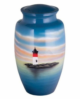 Lighthouse Beacon Hand Painted Cremation Urn