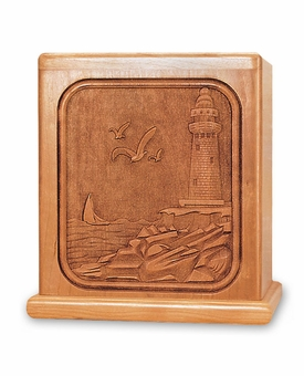 Lighthouse Cherry Cremation Urn - Engravable