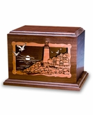 Lighthouse Dimensional Wood Cremation Urn - Engravable