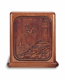 Lighthouse Mahogany Cremation Urn - Engravable