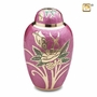 Lilac Rose Enameled Cremation Urn