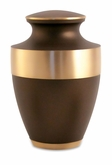 Lineas Rustic Bronze Brass Cremation Urn - Engravable