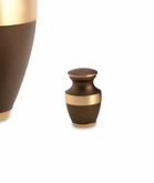 Lineas Rustic Bronze Brass Keepsake Cremation Urn - Engravable