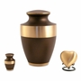 Lineas Rustic Bronze Heart Brass Keepsake Cremation Urn - Engravable