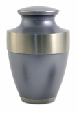 Lineas Starlight Blue Brass Cremation Urn - Engravable
