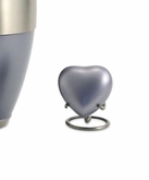 Lineas Starlight Blue Heart Brass Keepsake Cremation Urn - Engravable