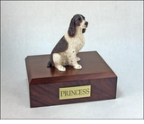 Liver White Springer Spaniel Dog Figurine Pet Cremation Urn - 246