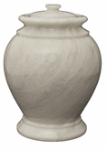 London Antique White Marble Cremation Urn