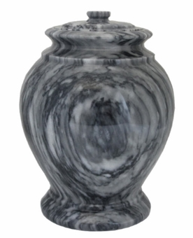 London Cashmere Gray Marble Cremation Urn