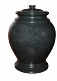 London Ebony Marble Cremation Urn